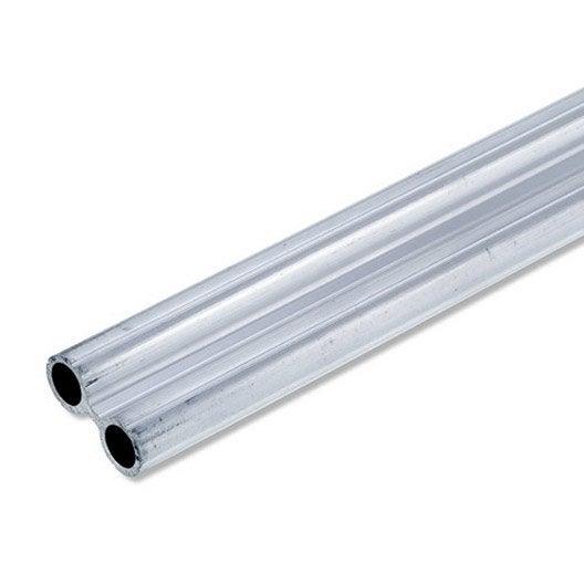 tube double en aluminium brut long 1m x larg 27 5 x ep 1 5 mm leroy merlin. Black Bedroom Furniture Sets. Home Design Ideas