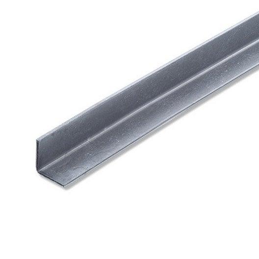 Corni re gale acier inoxydable brut l 1 m x l 2 cm x h 2 cm leroy merlin - Profile corniere acier ...