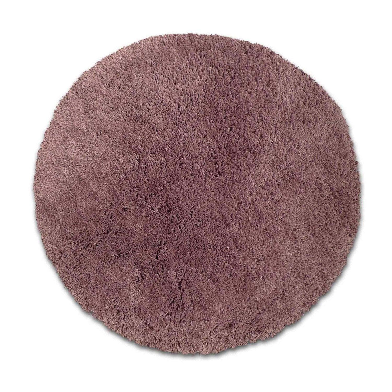 Tapis violet rond Diam.650 mm Agathe   Leroy Merlin