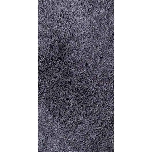 Tapis shaggy agathe gris galet n 2 120x60 cm leroy merlin - Leroy merlin tapis shaggy ...