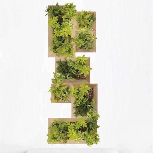 Sticker jardin vertical 47 cm x 120 cm leroy merlin - Huerto vertical leroy merlin ...