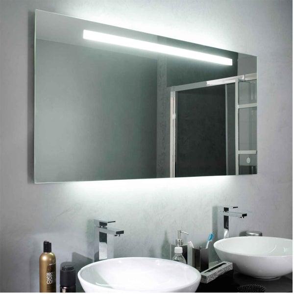 Tout savoir sur l 39 clairage dans la salle de bains leroy - Miroir salle de bain eclairant ...