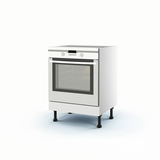 Meuble de cuisine bas blanc four d lice x x for Cuisine 70