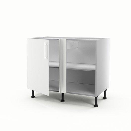 meuble de cuisine bas d 39 angle blanc 1 porte d lice x x cm leroy merlin. Black Bedroom Furniture Sets. Home Design Ideas