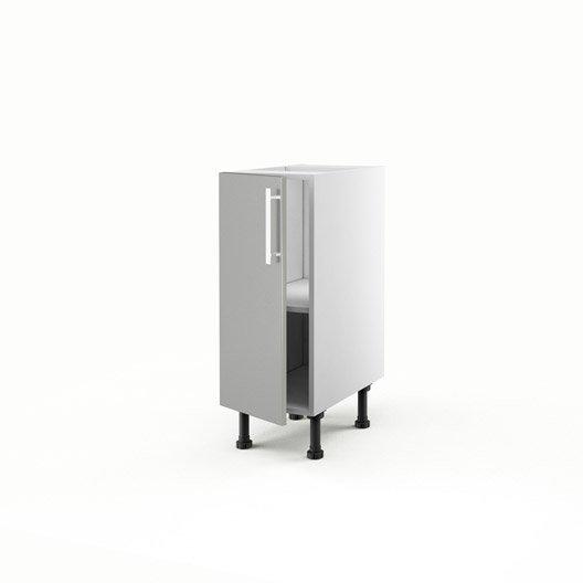 Meuble de cuisine bas gris 1 porte d lice x x p for Meuble bas cuisine profondeur 30 cm