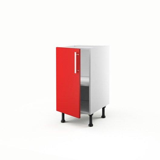 Meuble de cuisine bas rouge 1 porte d lice x x p for Meuble 70x40
