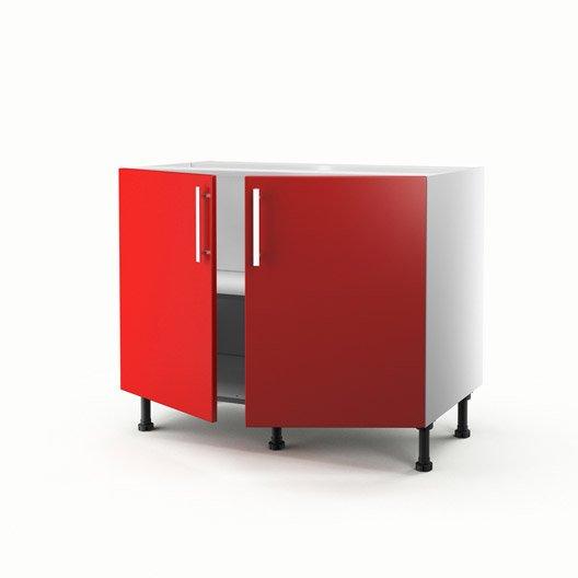 Meuble de cuisine bas rouge 2 portes d lice x x for Meuble 70x70