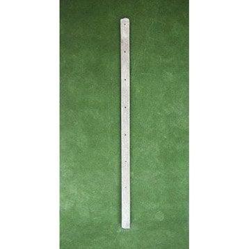 Piquet droit pour clôture en béton pleine, L.200 x H.200 cm x Ep.8 mm