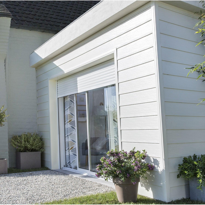Rideaux Baie Vitrée Coulissante baie vitrée coulissante + volet aluminium blanc, motorisation somfy,  200x240cm