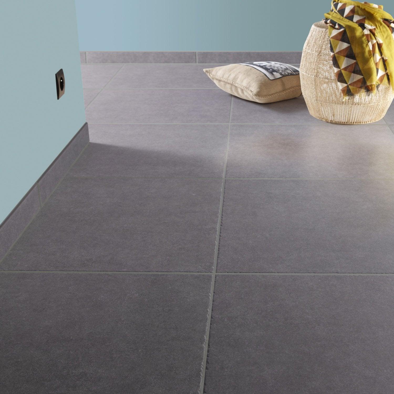 Carrelage sol et mur gris bleu effet pierre Bruges l.60.4 x L.60.4 ...