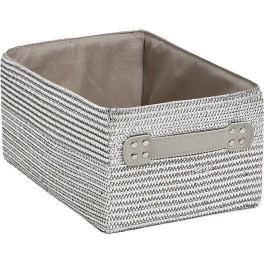 Panier malle et boite de rangement rangement de salle for Paniers suspendus salle de bain