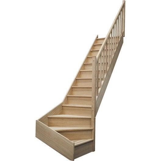 escalier quart tournant bas droit deva leroy merlin. Black Bedroom Furniture Sets. Home Design Ideas