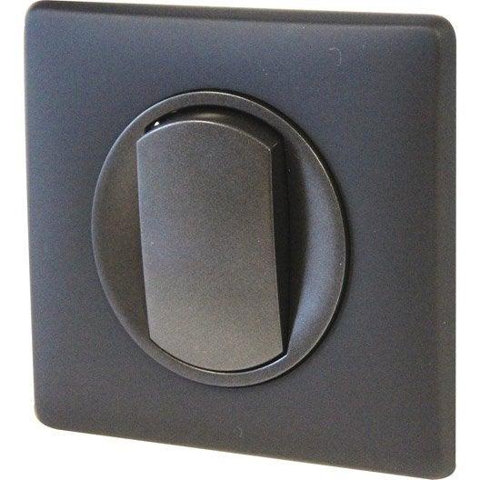 interrupteurs et prises legrand s rie c liane noir leroy merlin. Black Bedroom Furniture Sets. Home Design Ideas