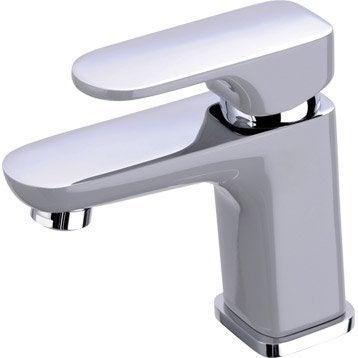 Mitigeur de lavabo chromé mat Elliot