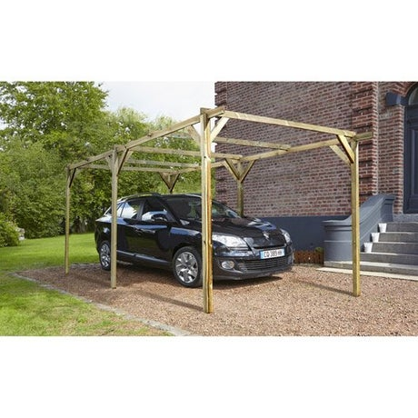 carport carport bois aluminium abri voiture leroy merlin. Black Bedroom Furniture Sets. Home Design Ideas