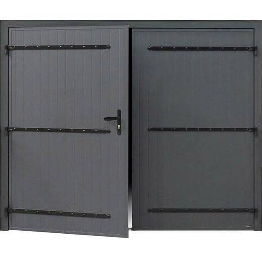 Porte de garage battante manuelle artens essentiel x for Porte garage hauteur 2m50