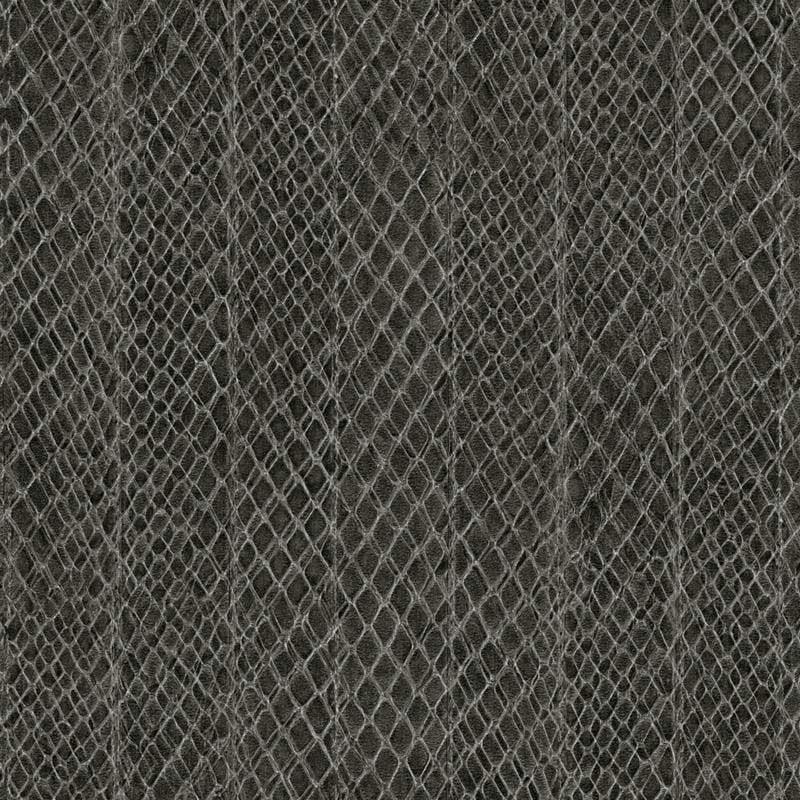 Papier peint vinyle SAFFIANO Rayure Serpent noir
