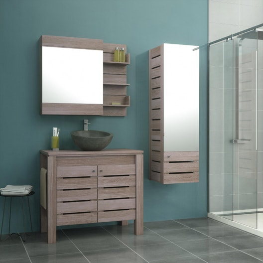 meuble vasque 90 cm moorea leroy merlin. Black Bedroom Furniture Sets. Home Design Ideas