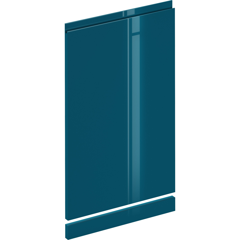 Kit lave-vaisselle Osaka bleu paon brillant, DELINIA ID H.76.5 x l.44.7 cm