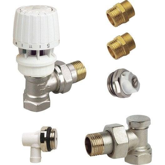 T te et robinet de radiateur robinet et accessoires de radiateur eau chaude leroy merlin - Vanne thermostatique radiateur ...