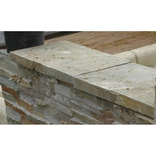 Couvre mur en pierre naturelle h 4 x x cm - Couvre mur beton leroy merlin ...