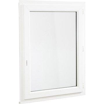 Fenêtre pvc 1 vantail ouvrant à la française H.65 x l.40 cm