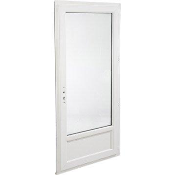 Porte-fenêtre pvc ARTENS 1 vantail ouvrant à la française H.215 x l.90 cm