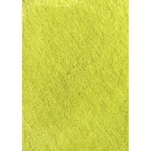 tapis jaune shaggy agathe x cm leroy merlin. Black Bedroom Furniture Sets. Home Design Ideas