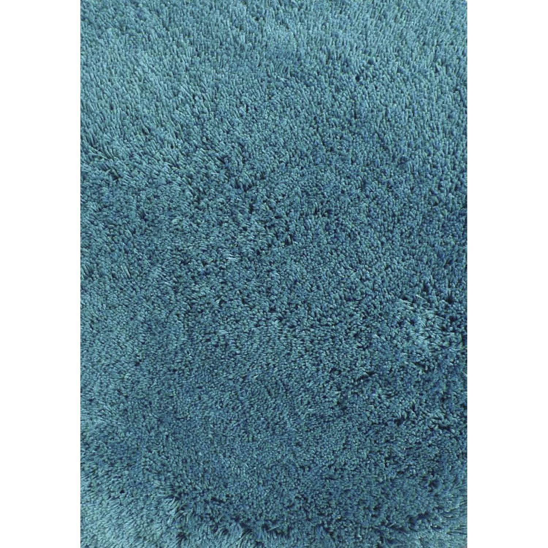 Tapis Bleu Shaggy Agathe L 120 X L 170 Cm Leroy Merlin