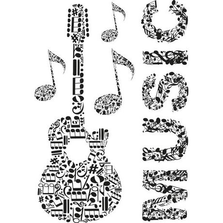 Sticker Musique 47 cm x 67 cm