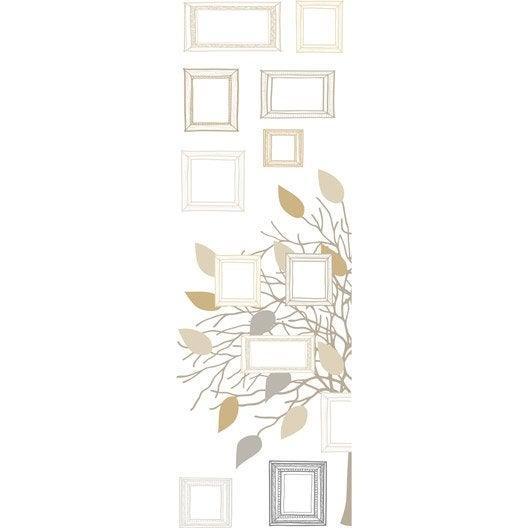 Sticker arbre g n alogique 23 5 cm x 67 cm leroy merlin for Sticker miroir rouleau