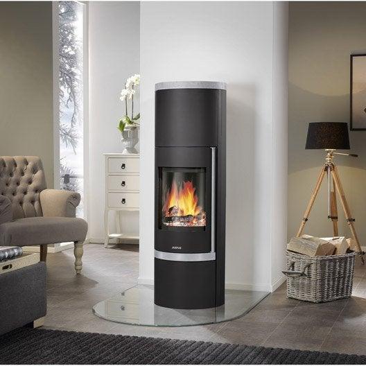 po le bois justus faro plus noir dessus ollaire 7 kw. Black Bedroom Furniture Sets. Home Design Ideas