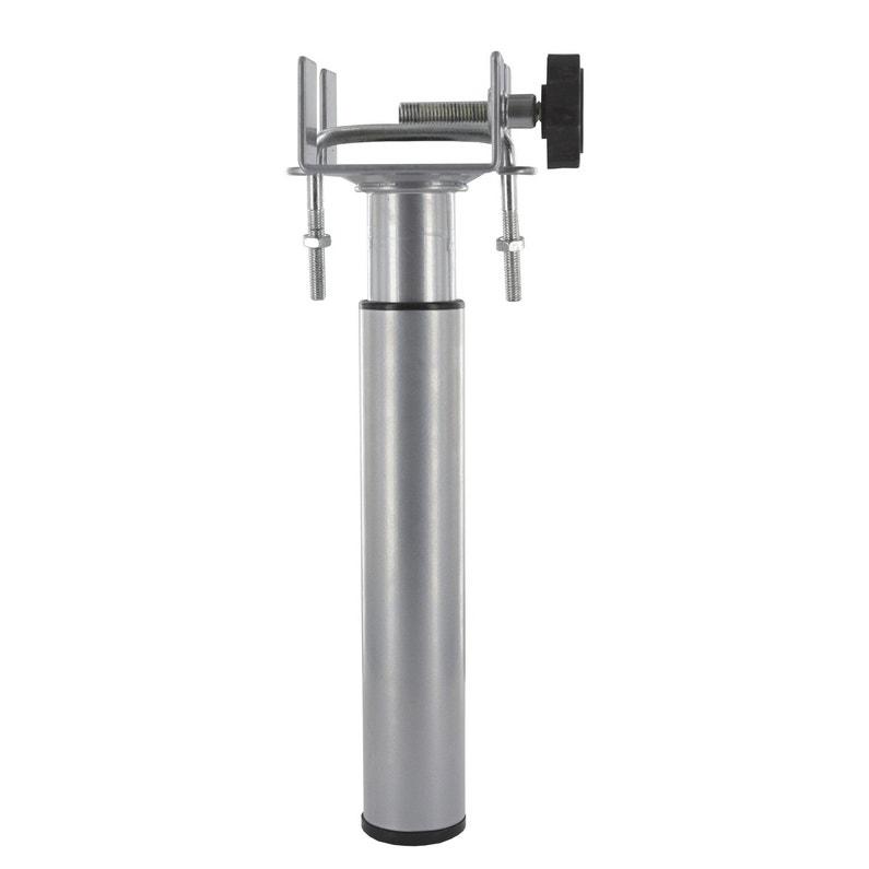 Pied De Lit Sommier Cylindrique Réglable Acier époxy Gris De 17 à 25 Cm