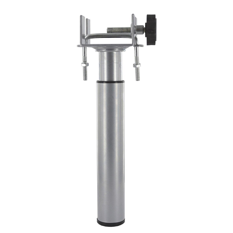 Pied De Lit / Sommier Cylindrique Réglable Acier époxy Gris, De 17 à 25 Cm