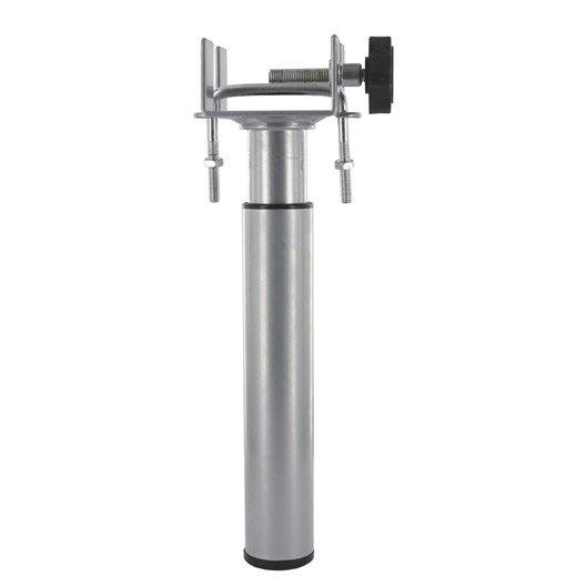 Pied de lit sommier cylindrique r glable acier epoxy gris de 17 25 cm - Pied de lit leroy merlin ...