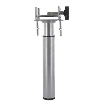 Pied de lit / sommier cylindrique réglable acier epoxy gris, de 17 à 25 cm