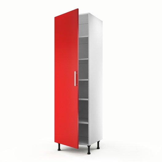 Meuble de cuisine colonne rouge 1 porte d lice x l - Meuble colonne cuisine 60 cm ...