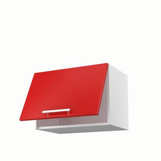 Idee Deco Chambre Bebe Hello Kitty : Meuble de cuisine haut sur hotte rouge 1 porte Délice H42 x l60 x P