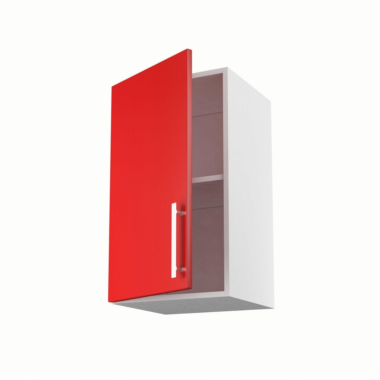 Meuble De Cuisine Haut Rouge 1 Porte Délice H 70 X L 40 X P 35 Cm
