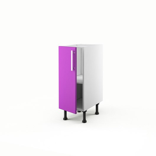 Meuble de cuisine bas violet 1 porte d lice x x for Meuble cuisine violet