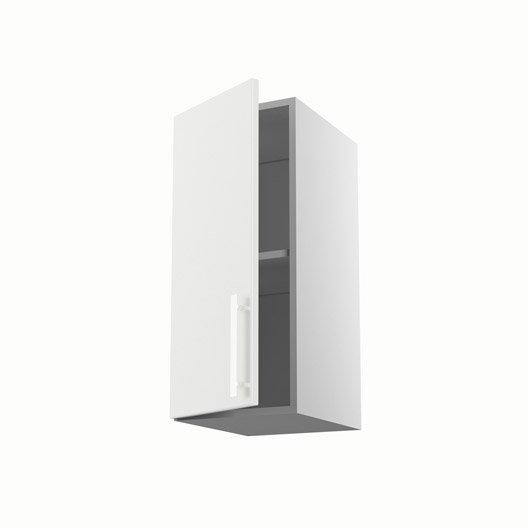 Meuble de cuisine haut blanc 1 porte d lice x x for Meuble 70 cm de haut