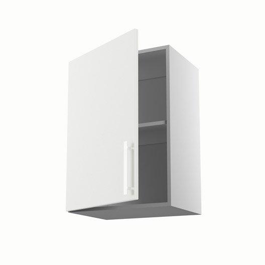 Meuble de cuisine haut blanc 1 porte d lice x x for Meuble cuisine 50 x 70