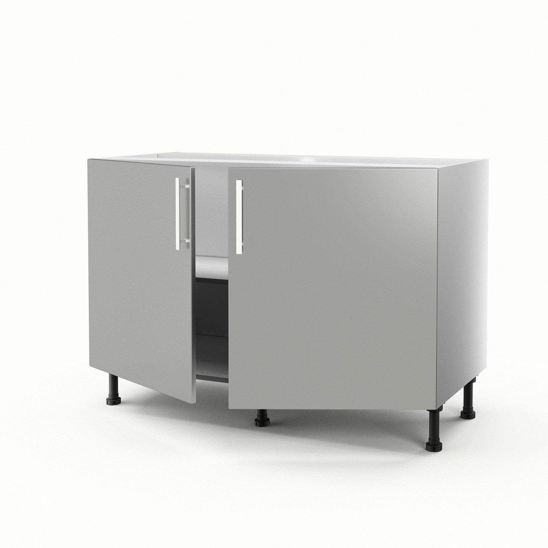 Meuble De Cuisine Sous-évier Gris 2 Portes Délice H.70 X L.