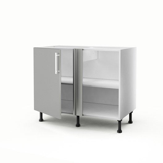 meuble de cuisine bas d 39 angle gris 1 porte d lice x x cm leroy merlin. Black Bedroom Furniture Sets. Home Design Ideas