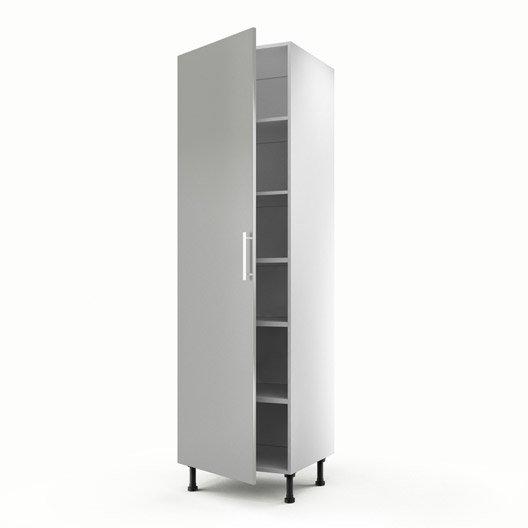 meuble de cuisine colonne gris 1 porte d lice x x cm leroy merlin. Black Bedroom Furniture Sets. Home Design Ideas