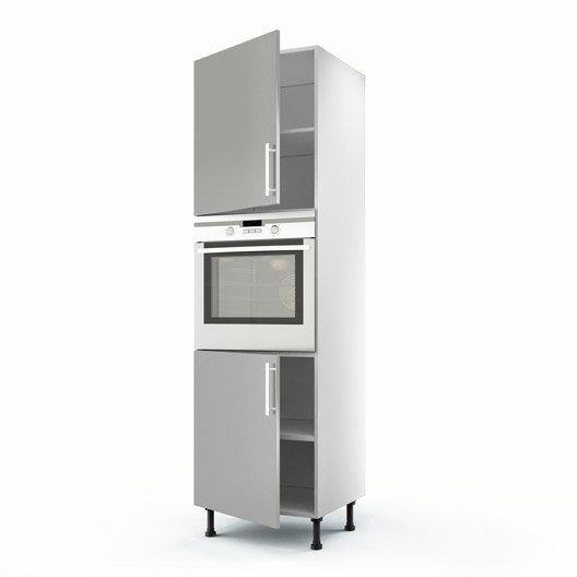 Meuble de cuisine colonne gris 2 portes d lice x l for Porte cuisine 60 x 90