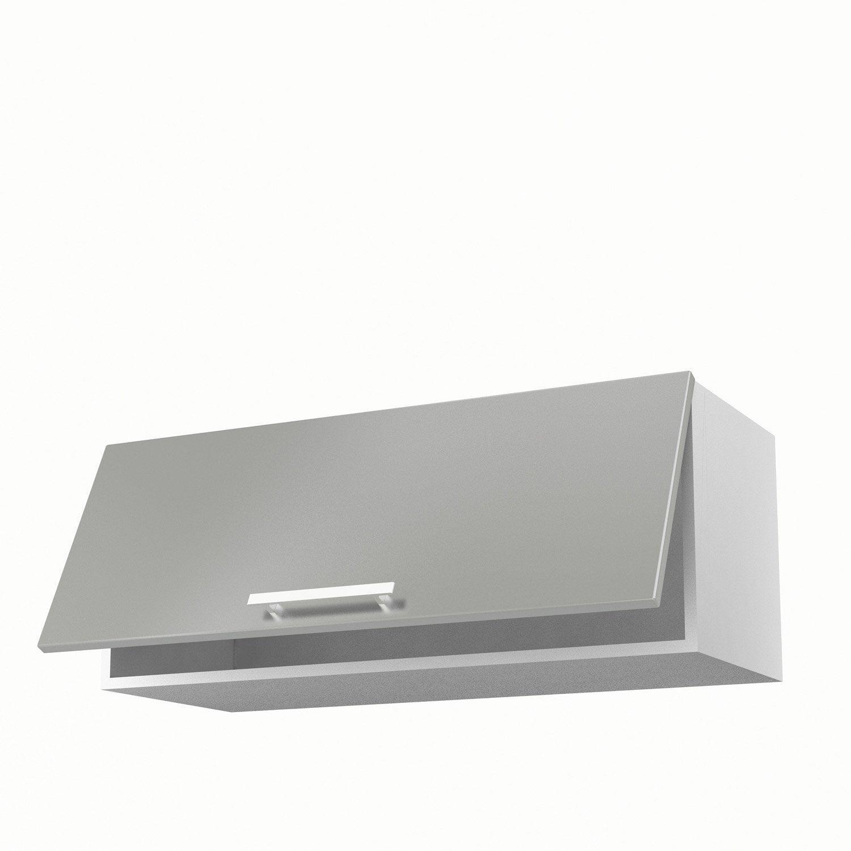Meuble de cuisine haut gris 1 porte Délice H.35 x l.90 x P.35 cm ...