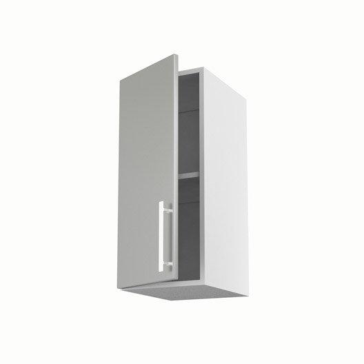 Meuble de cuisine haut gris 1 porte d lice x x p for Porte 70 cm de large