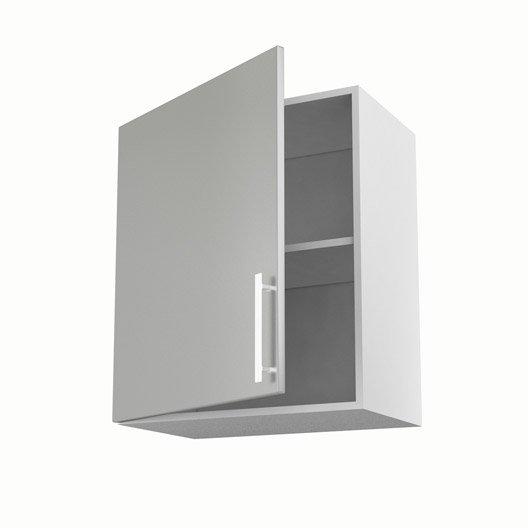 Meuble de cuisine haut gris 1 porte d lice x x p for Porte cuisine 60 x 30
