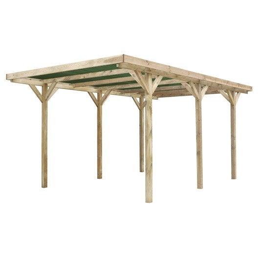 Carport bois haut de gamme - Carport pas cher en bois ...